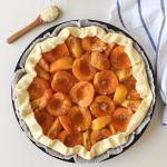 Tarte fine aux abricots et aux pêches