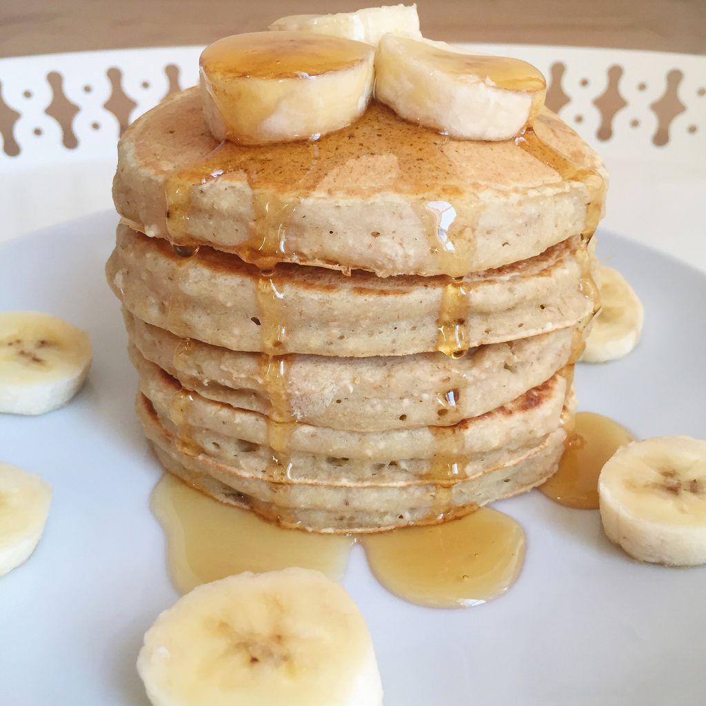 pancakes banane avoine les cuill res en bois. Black Bedroom Furniture Sets. Home Design Ideas