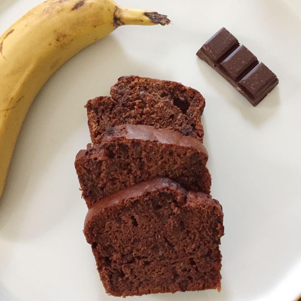 Cake Banane Et Chocolat Les Cuilleres En Bois